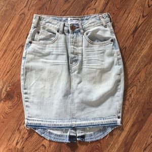 One Teaspoon Denim Skirt Mid-Rise 25 NWOT